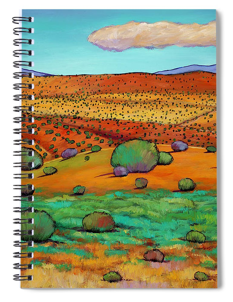 New Mexico Desert Spiral Notebook featuring the painting Desert Day by Johnathan Harris