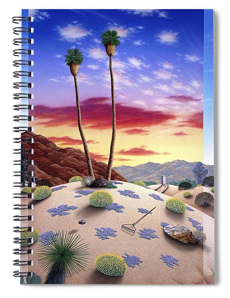 Desert Spiral Notebook featuring the painting Desert Sunrise by Snake Jagger