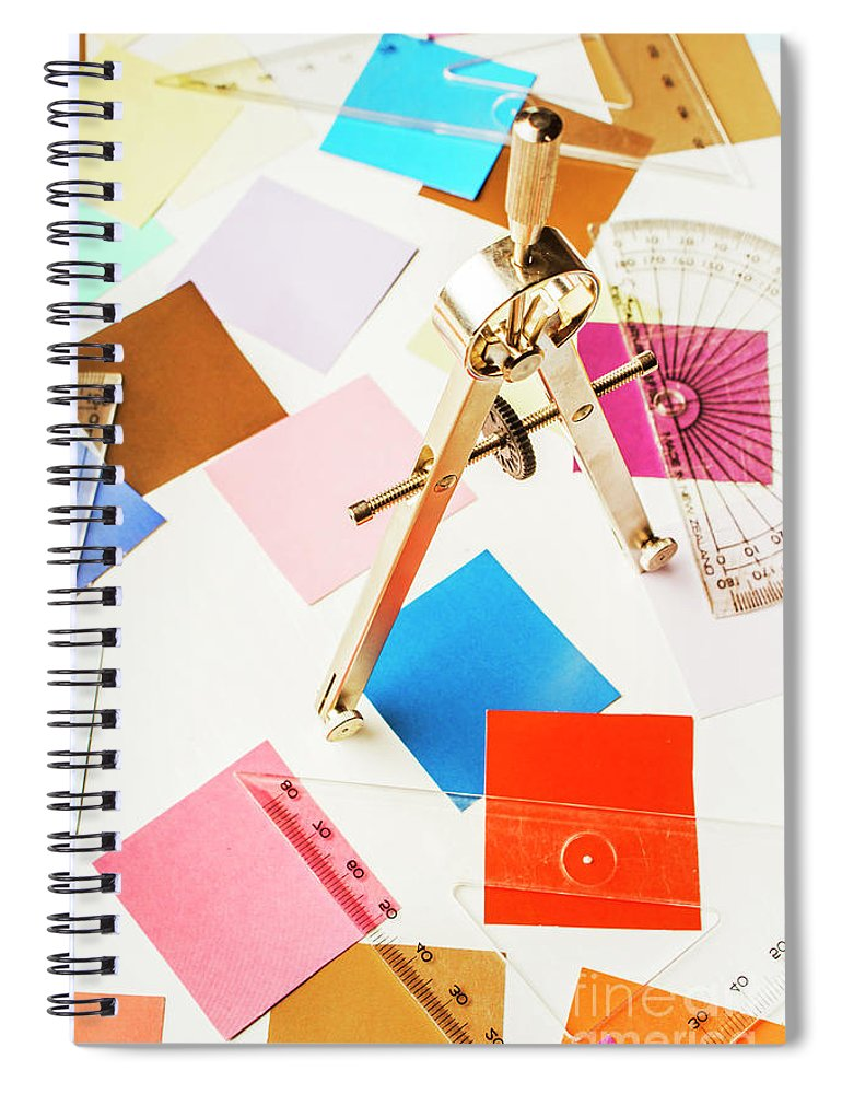Drafting Spiral Notebook featuring the photograph Design In Abstract Geometry by Jorgo Photography - Wall Art Gallery