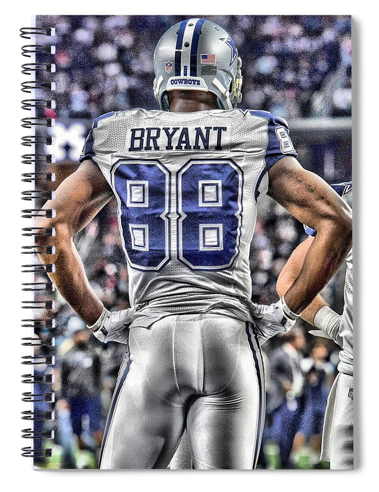 Dez Bryant Spiral Notebook featuring the painting Dez Bryant Cowboys Art 2 by Joe Hamilton