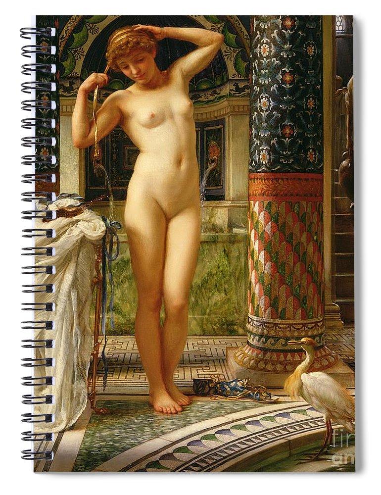 Diadumene Spiral Notebook featuring the painting Diadumene by Sir Edward John Poynter