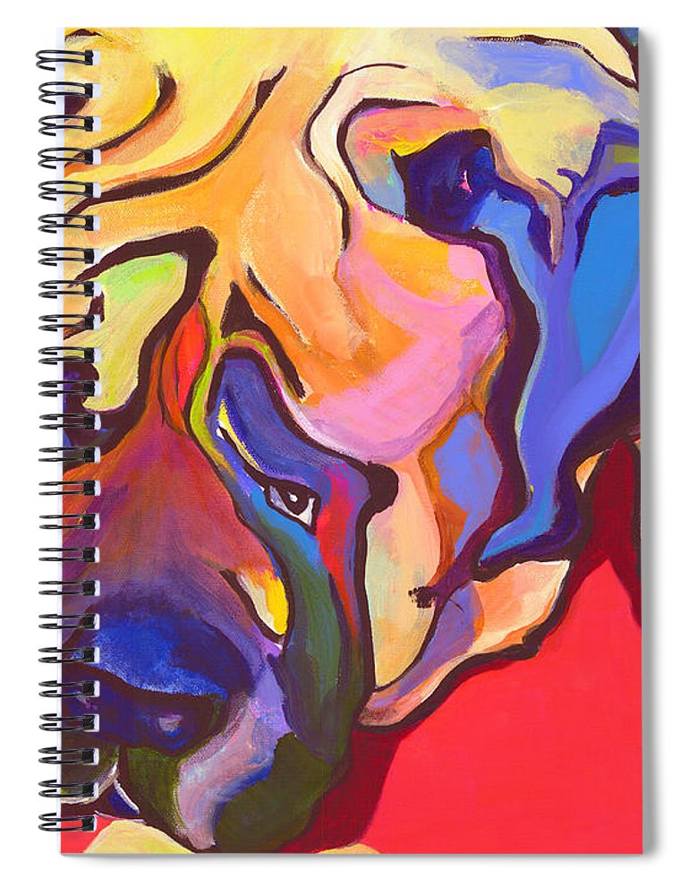 Mastiff Spiral Notebook featuring the painting Diesel  by Pat Saunders-White