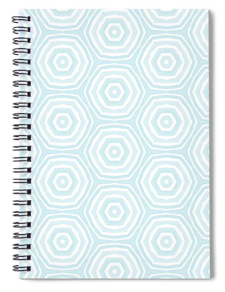 Circles Spiral Notebook featuring the digital art Dip In The Pool - Pattern Art by Linda Woods by Linda Woods