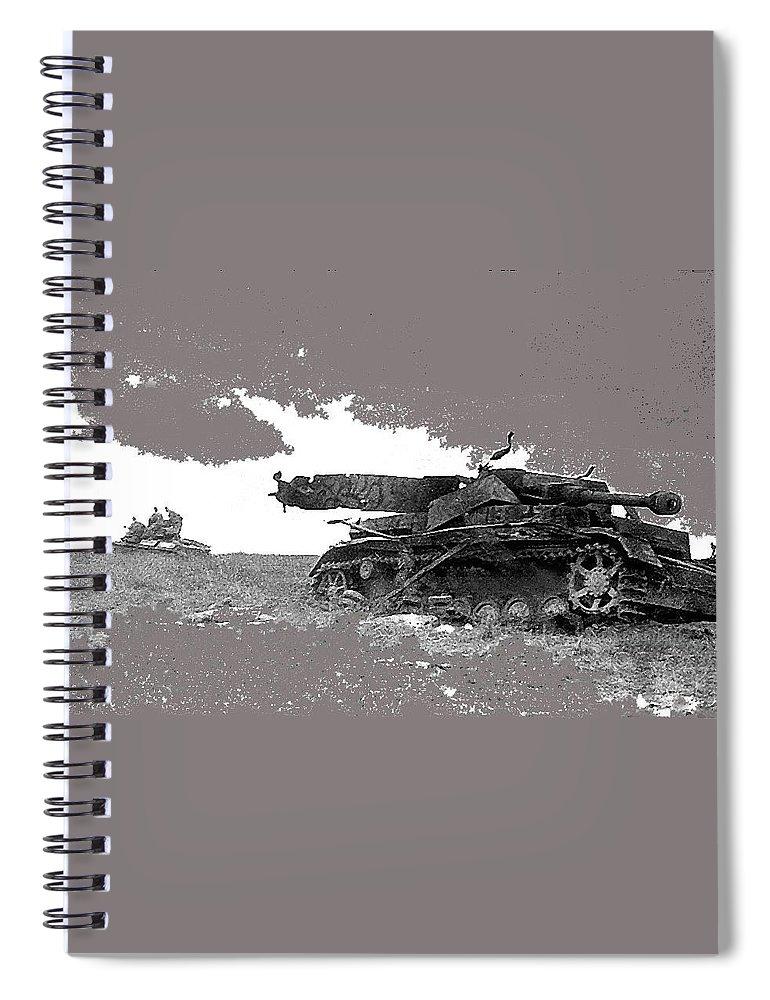Disabled German Tiger Tank Battle Of Kursk Soviet Union 1943 Spiral Notebook