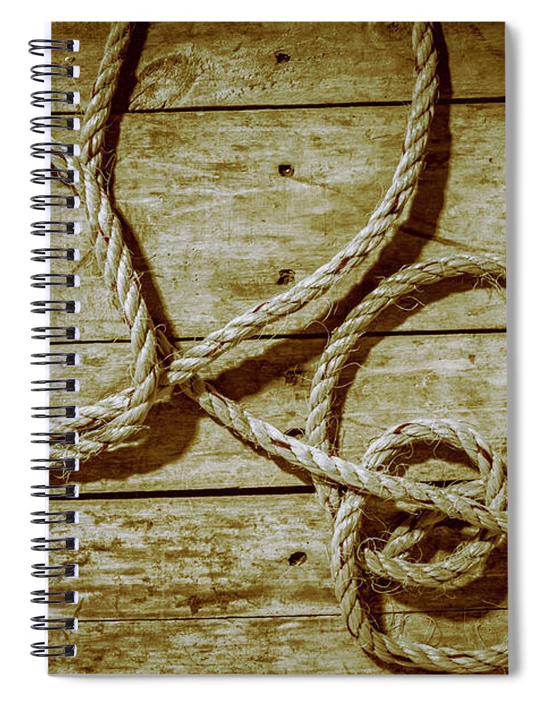 Rope Spiral Notebook featuring the photograph Dispatched Ropes And Voyages by Jorgo Photography - Wall Art Gallery