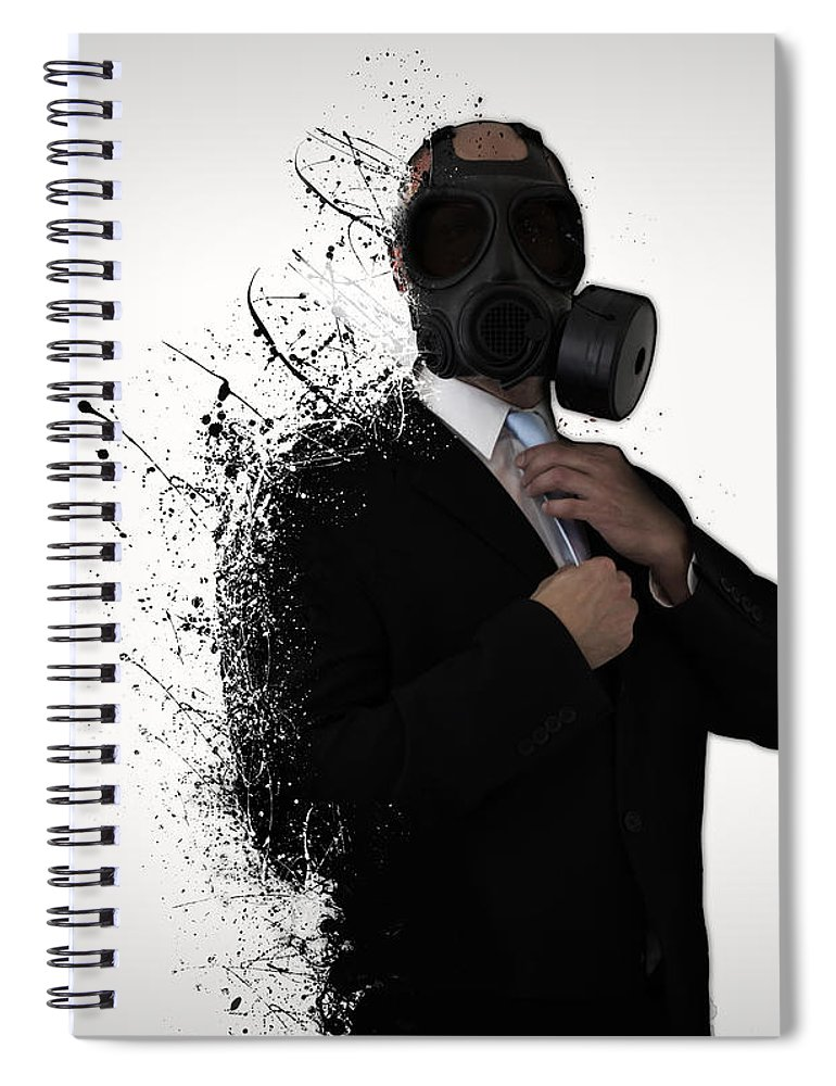 Gas Spiral Notebook featuring the photograph Dissolution of man by Nicklas Gustafsson