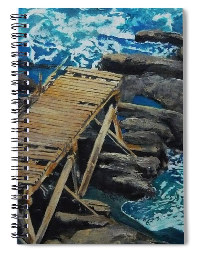 Dock Spiral Notebook featuring the painting Dock by Travis Day