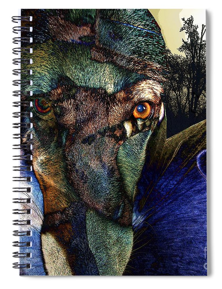 Dog Spiral Notebook featuring the photograph Domesticated by Ron Bissett
