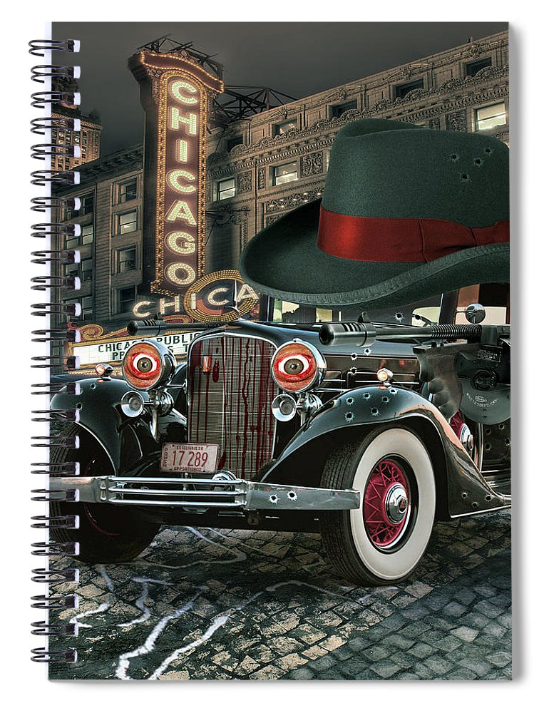 American Spiral Notebook featuring the digital art Don Cadillacchio by Marian Voicu