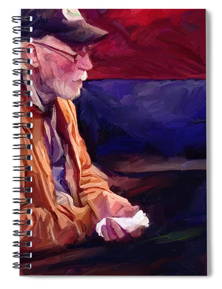 Portrait Spiral Notebook featuring the digital art Don by Scott Waters