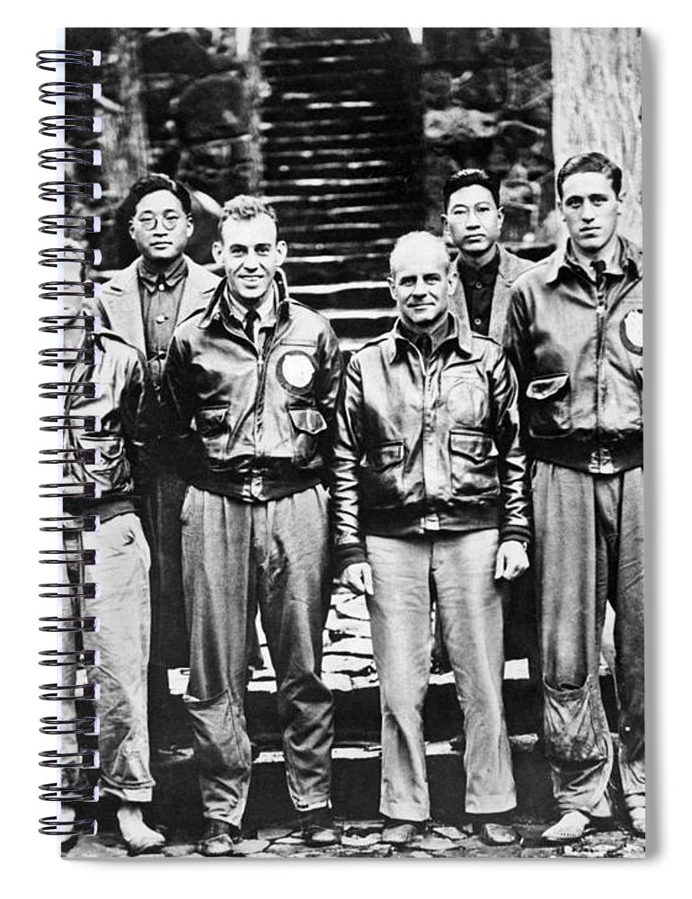 1943 Spiral Notebook featuring the photograph Doolittle's Raiders by American School