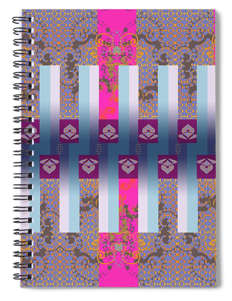 Hot Pink Spiral Notebook featuring the digital art Drake by Ceil Diskin