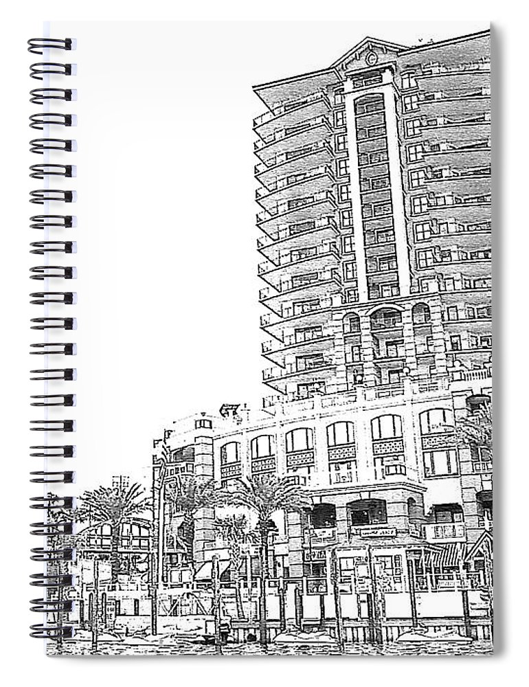 Drawing Spiral Notebook featuring the photograph Drawing The Building by Michelle Powell