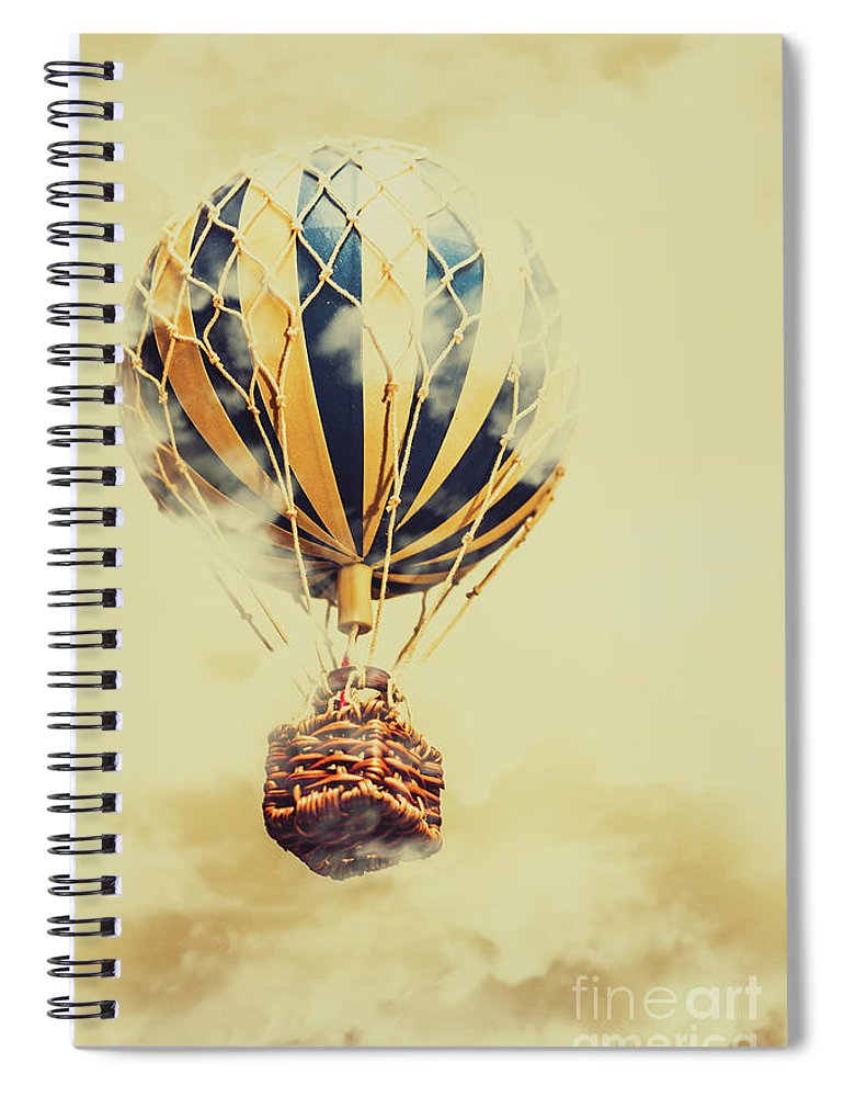 Balloon Spiral Notebook featuring the photograph Dreams And Clouds by Jorgo Photography - Wall Art Gallery