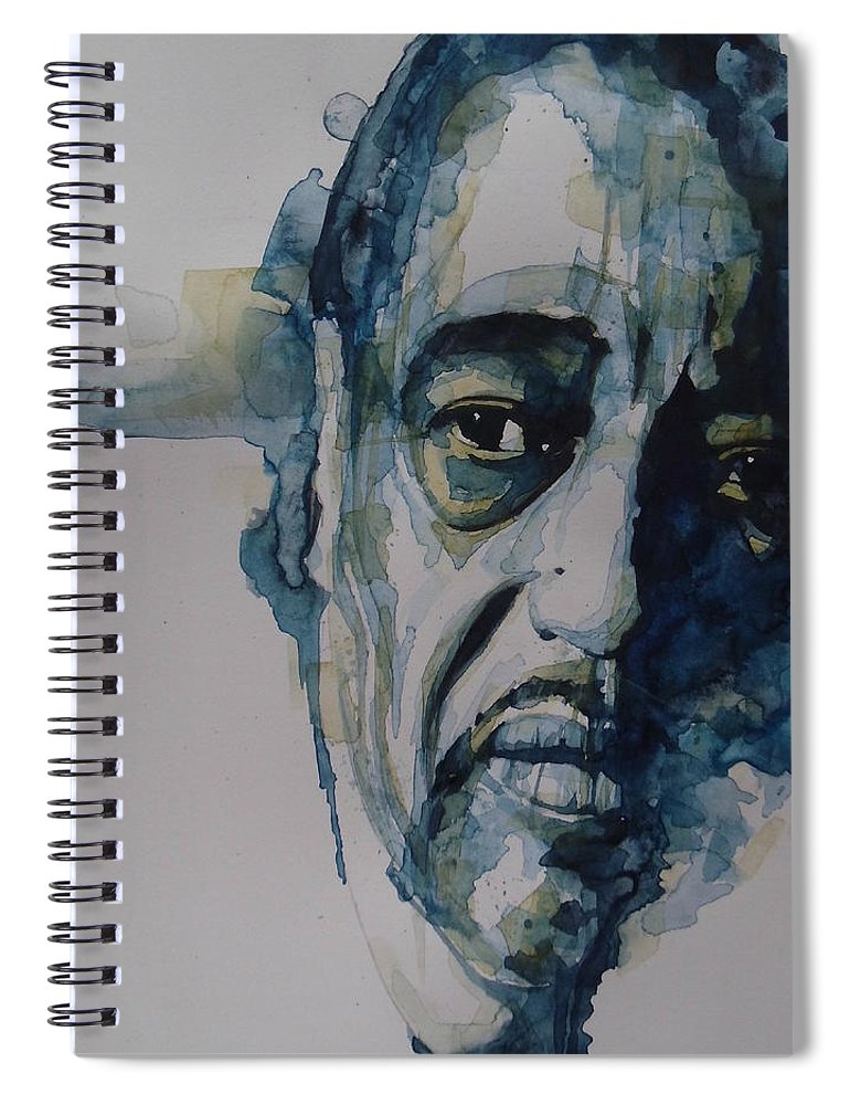 Duke Ellington Spiral Notebook featuring the painting Duke Ellington by Paul Lovering