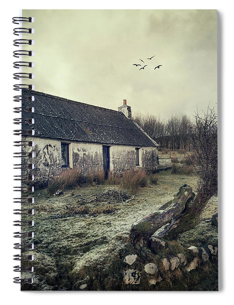 Kremsdorf Spiral Notebook featuring the photograph Dusty Morning by Evelina Kremsdorf