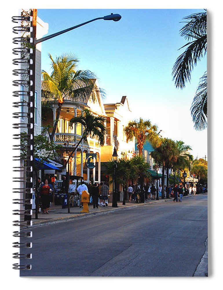 Key West Spiral Notebook featuring the photograph Duval Street In Key West by Susanne Van Hulst