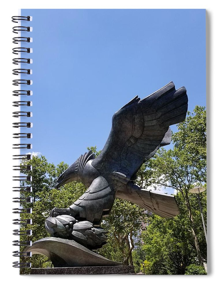 Abstract Art Spiral Notebook featuring the photograph Eagle Statue by Rob Hans