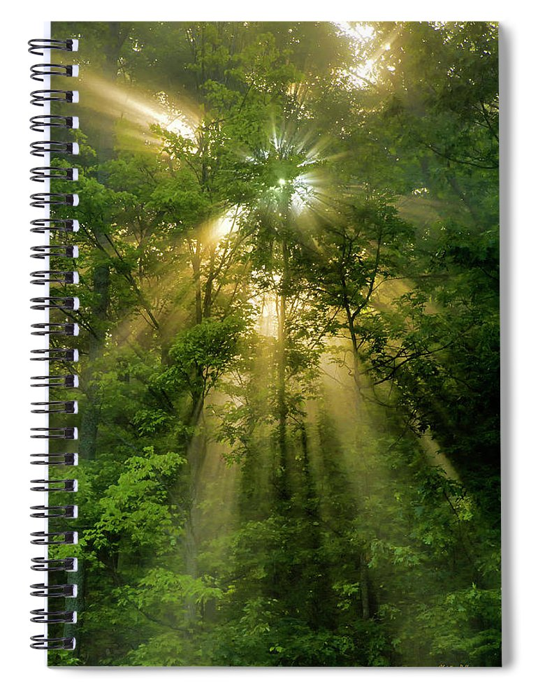 Sunrise Spiral Notebook featuring the photograph Early Morning Peace by Christina Rollo
