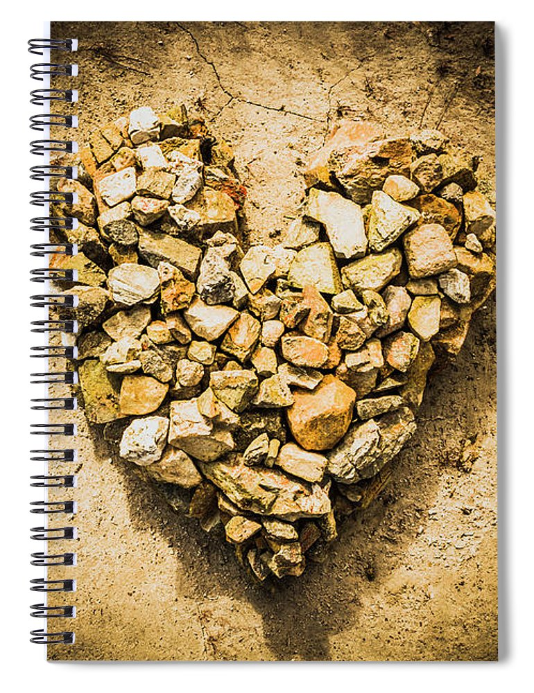 Heart Spiral Notebook featuring the photograph Earthly Togetherness by Jorgo Photography - Wall Art Gallery