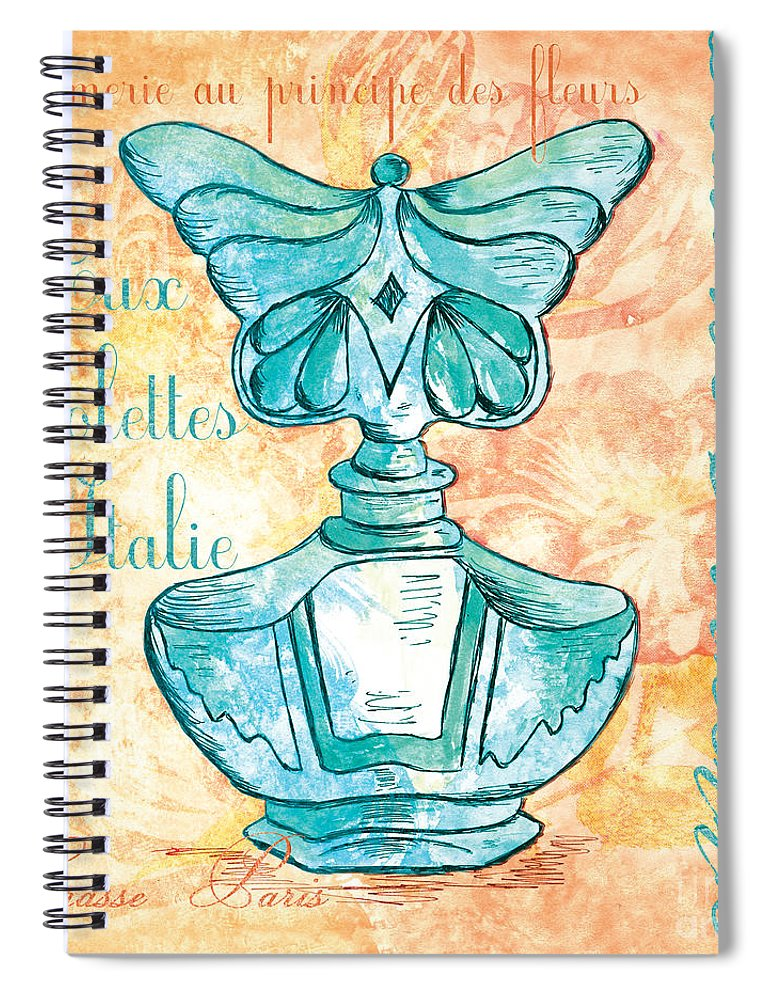 Perfume Spiral Notebook featuring the painting Eau De Toilette by Debbie DeWitt