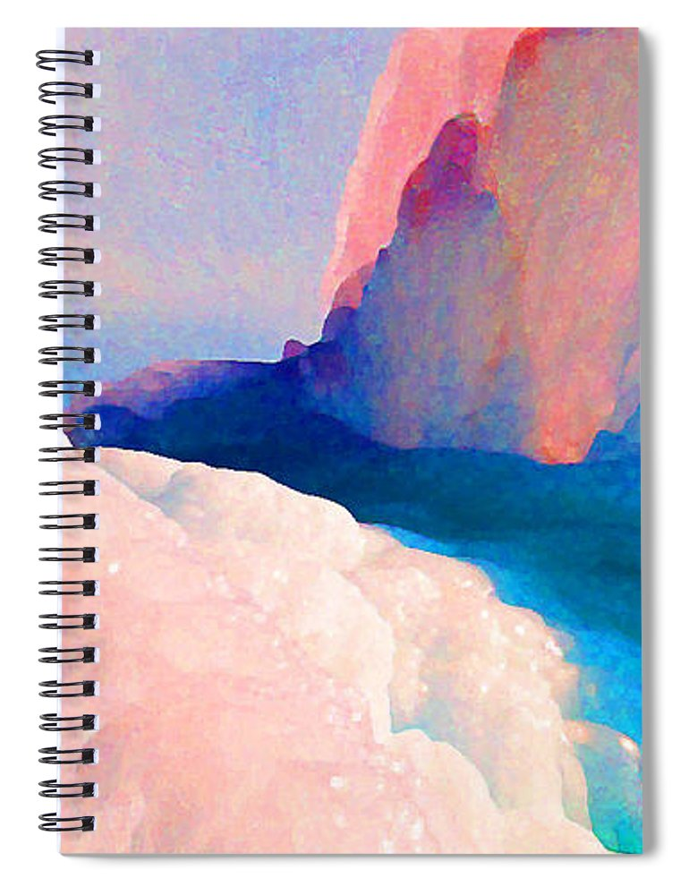 Abstract Spiral Notebook featuring the photograph Ebb and Flow by Steve Karol