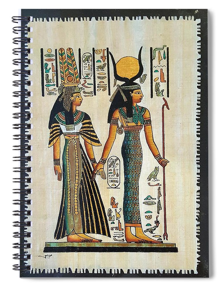 Temple Of Horus Spiral Notebook featuring the photograph Egyptian Papyrus by Rob Hans