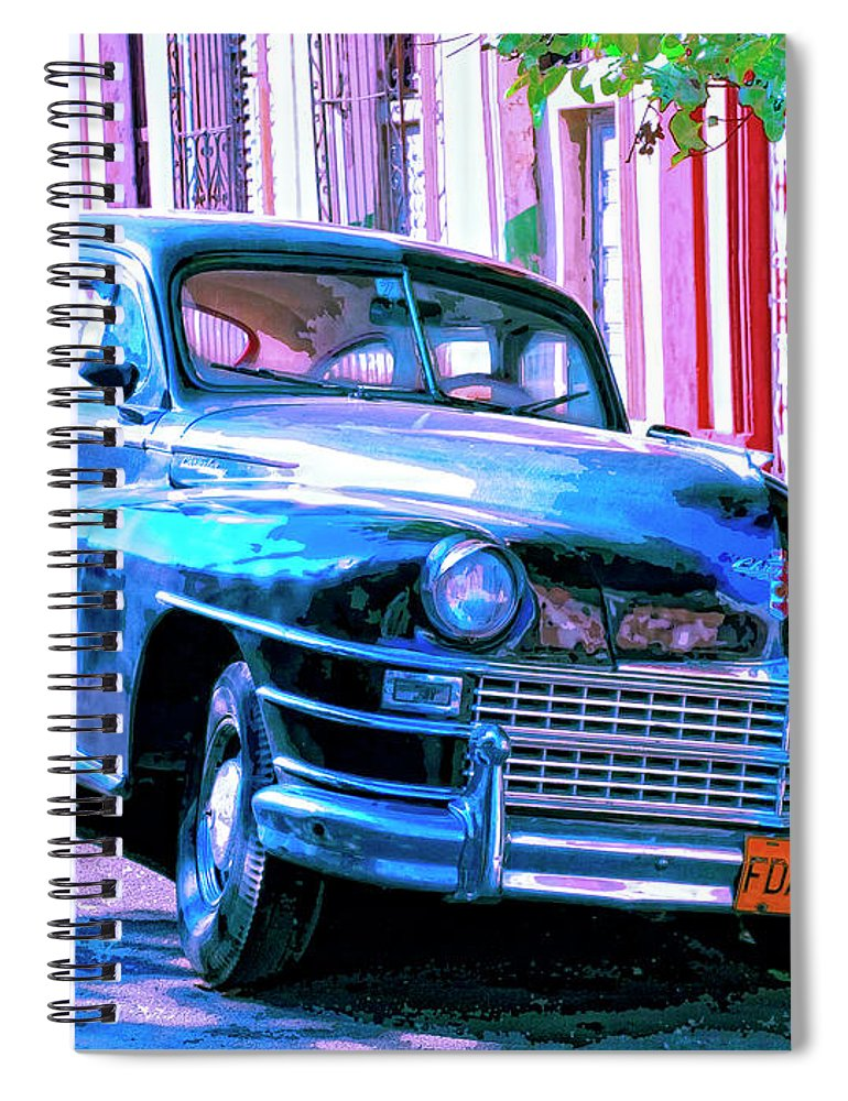 El Embajador Spiral Notebook featuring the mixed media El Embajador by Dominic Piperata