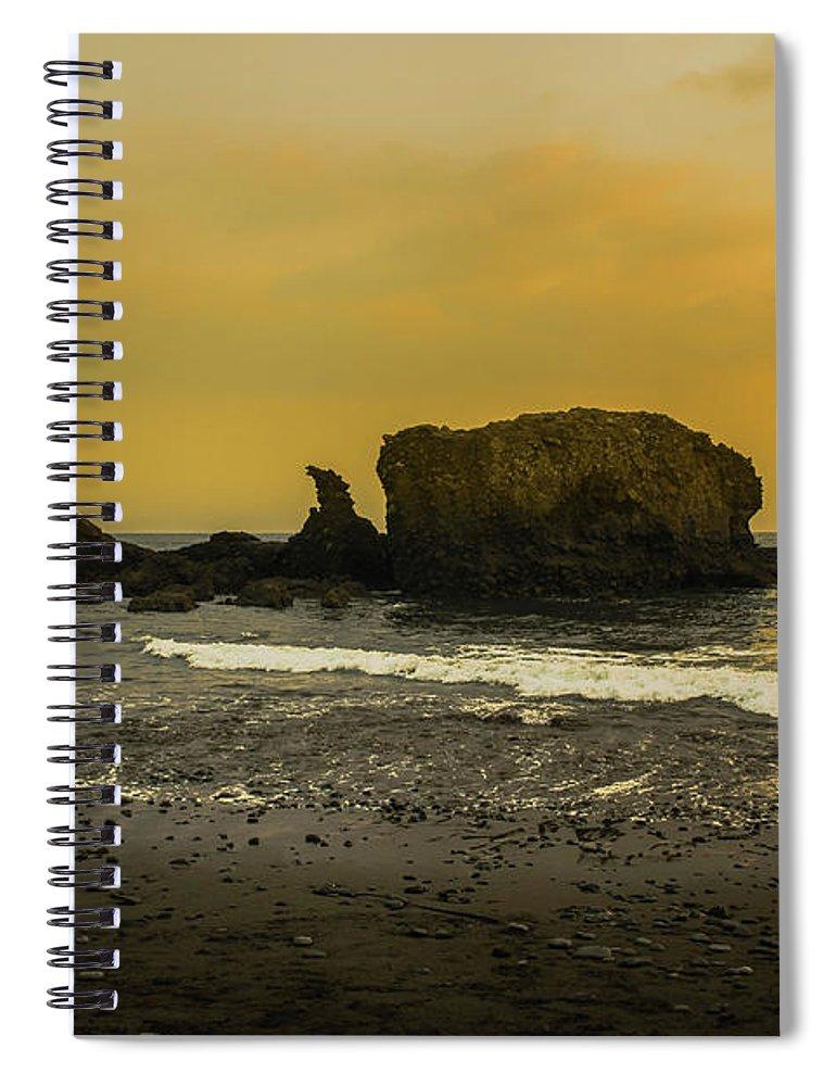 Sunzal Spiral Notebook featuring the photograph El Tunco, La Libertad, El Salvador by Totto Ponce