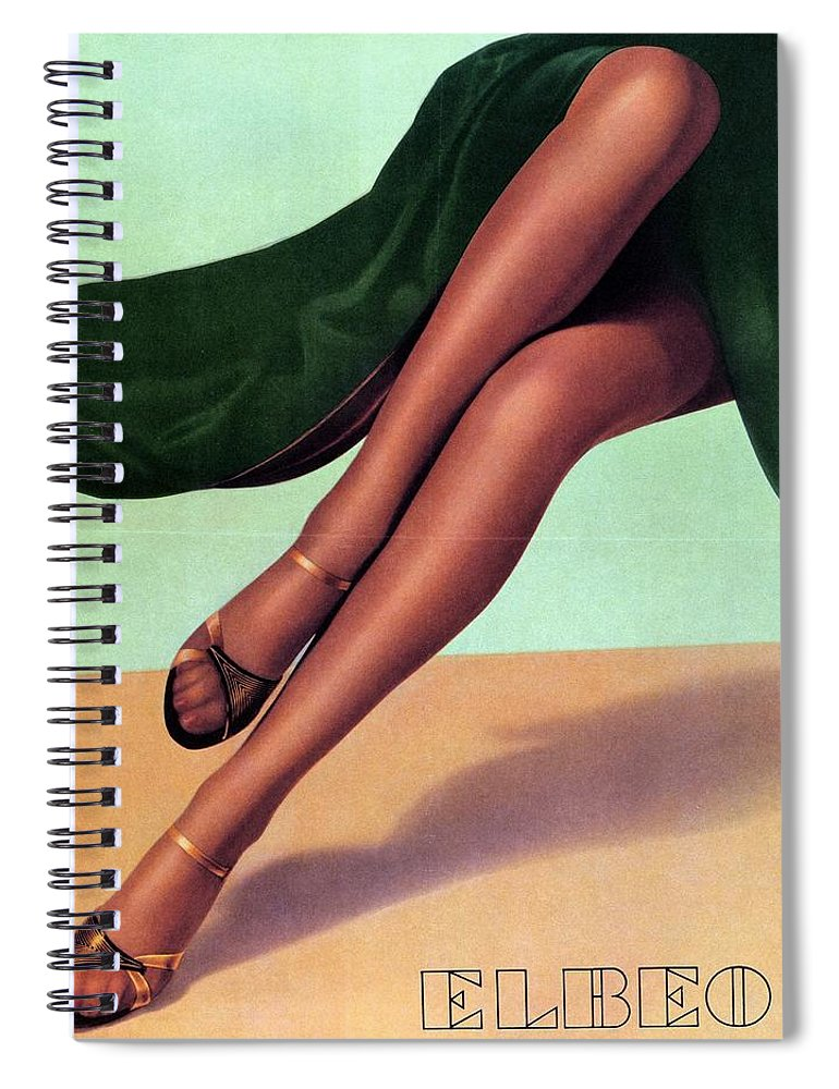 6bf0b158591 Elbeo Spiral Notebook featuring the mixed media Elbeo Tights And Stockings  - High Heels - Vintage