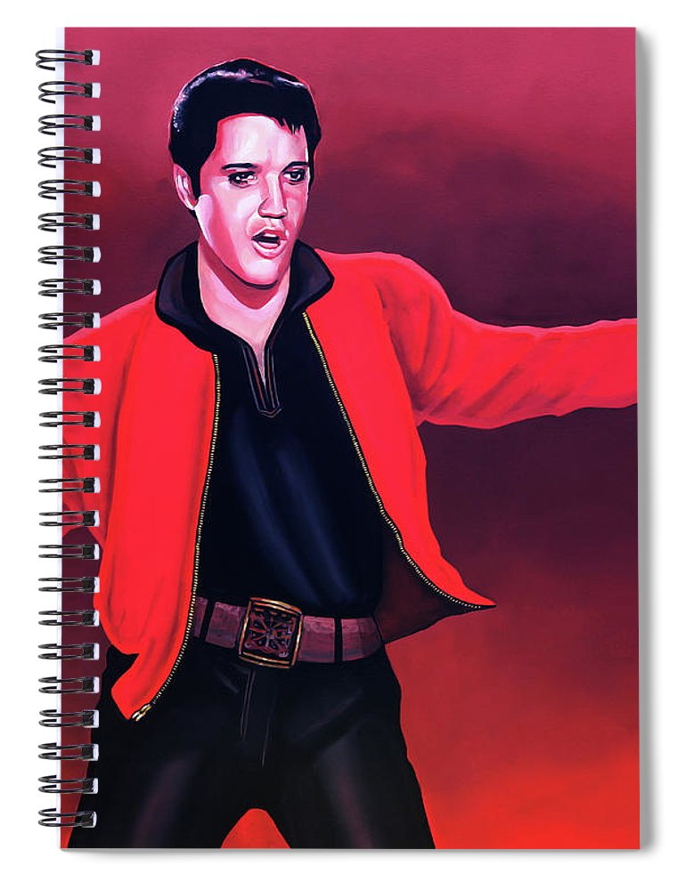 Elvis Spiral Notebook featuring the painting Elvis Presley 4 Painting by Paul Meijering