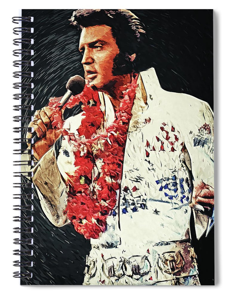 Elvis Presley Spiral Notebook featuring the digital art Elvis Presley by Zapista OU