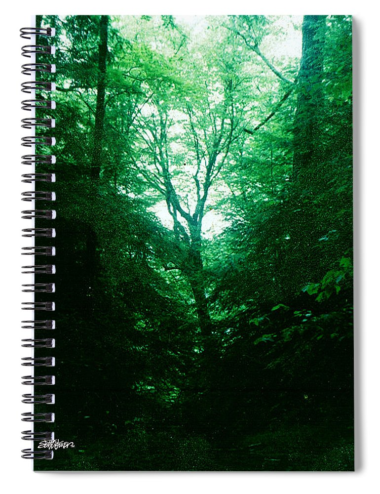 Emerald Spiral Notebook featuring the photograph Emerald Glade by Seth Weaver