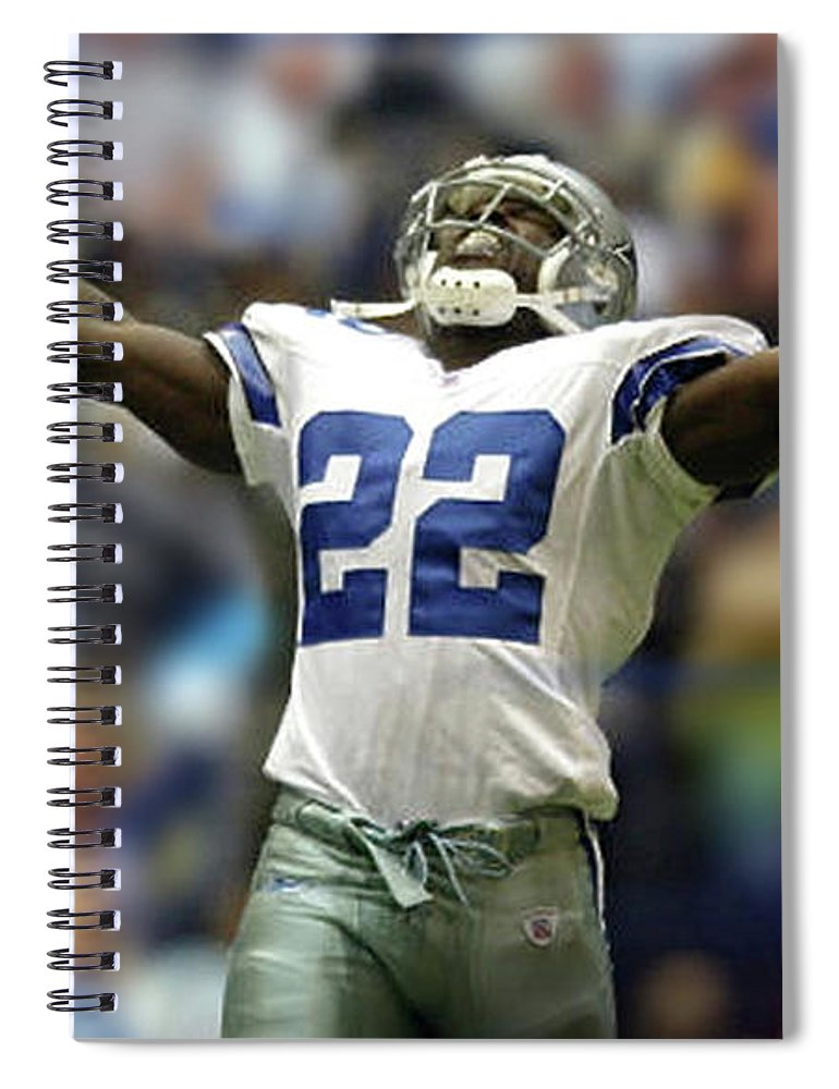 ab8ab2045 Emmitt Smith, Number 22, Running Back, Dallas Cowboys Spiral Notebook