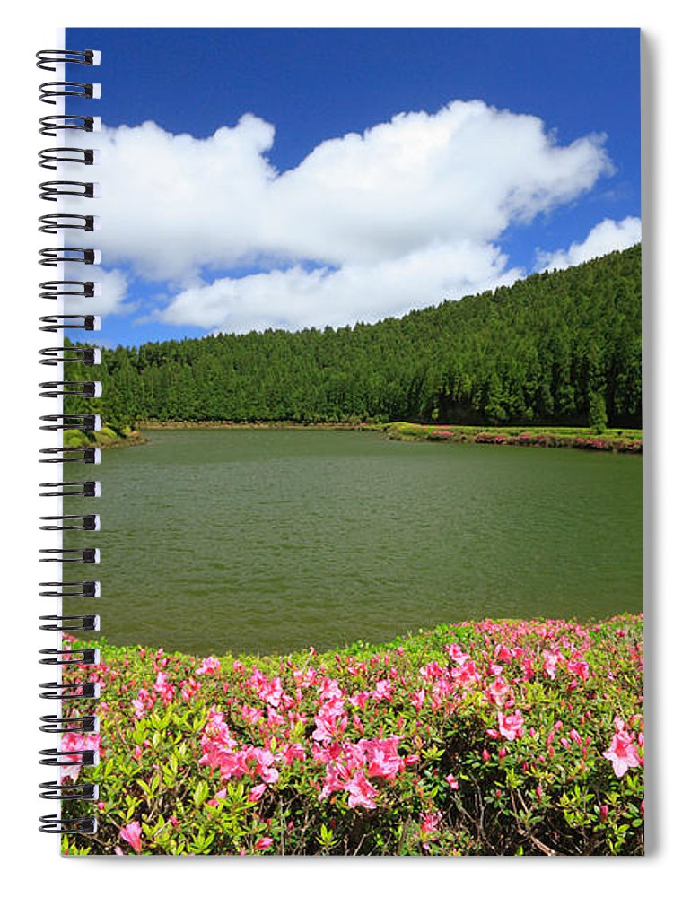 Azoren Spiral Notebook featuring the photograph Empadadas Lakes by Gaspar Avila
