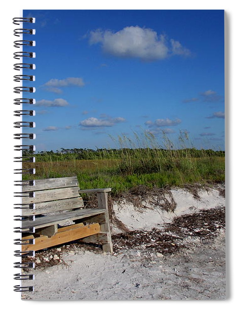 Landscape Spiral Notebook featuring the photograph Empty Bench by Barbara Bowen