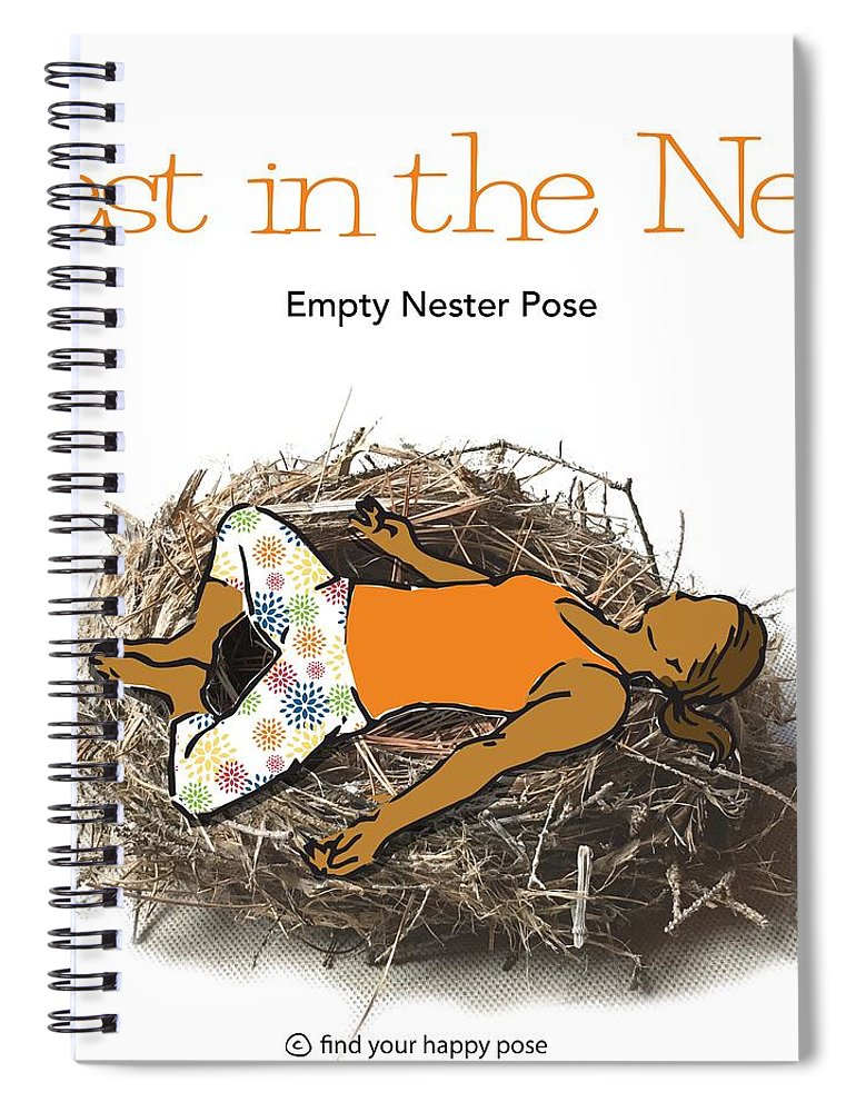 Yoga Pants Spiral Notebook featuring the digital art Empty Nester 2 by Patti And Lori