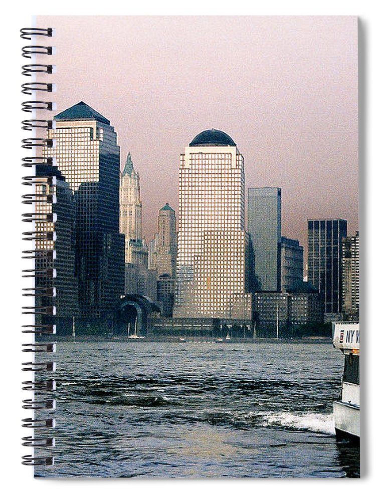 New York Spiral Notebook featuring the photograph Empty Sky by Steve Karol