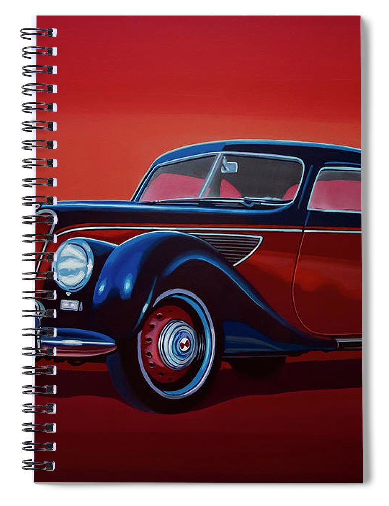 Emw Bmw Spiral Notebook featuring the painting Emw Bmw 1951 Painting by Paul Meijering