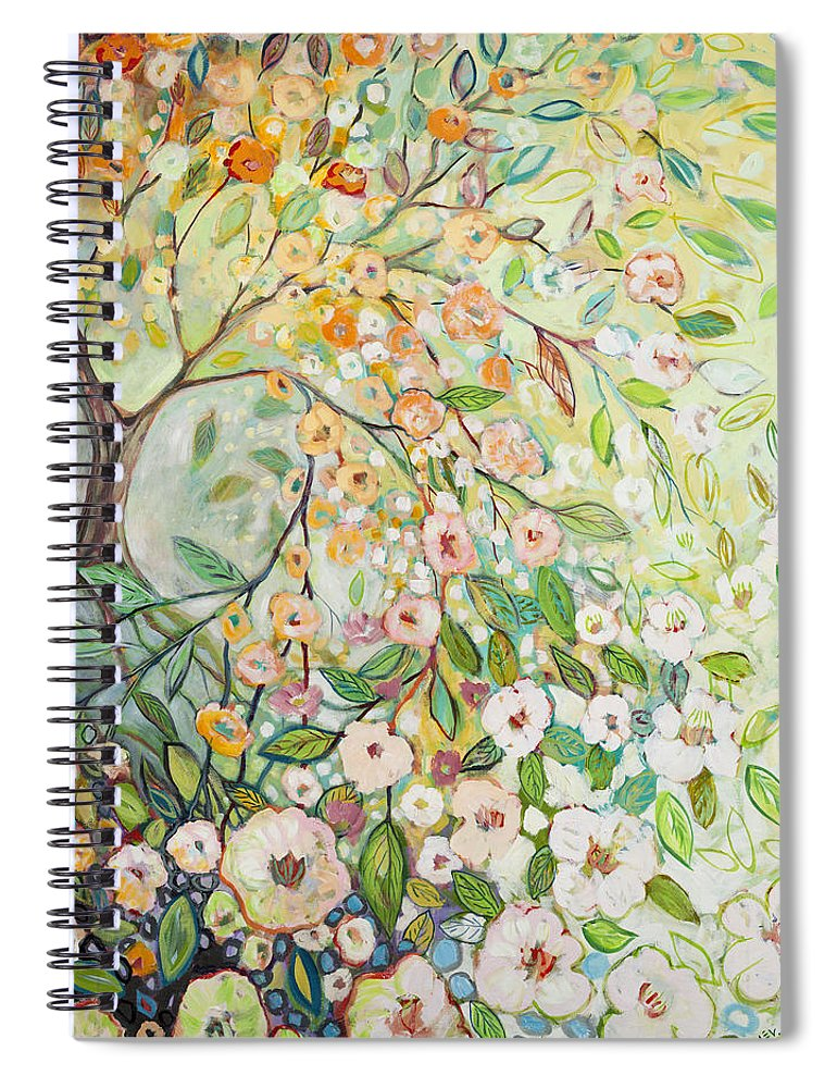 Tree Spiral Notebook featuring the painting Enchanted by Jennifer Lommers