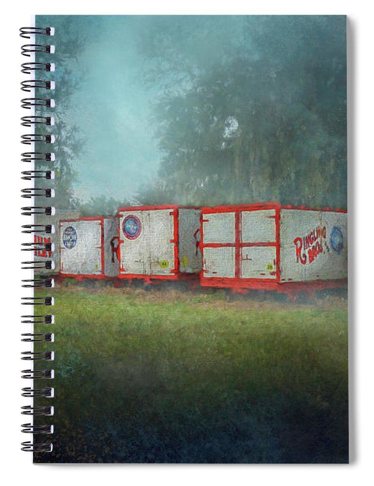 Wagon Spiral Notebook featuring the photograph End Of The Show by Marvin Spates