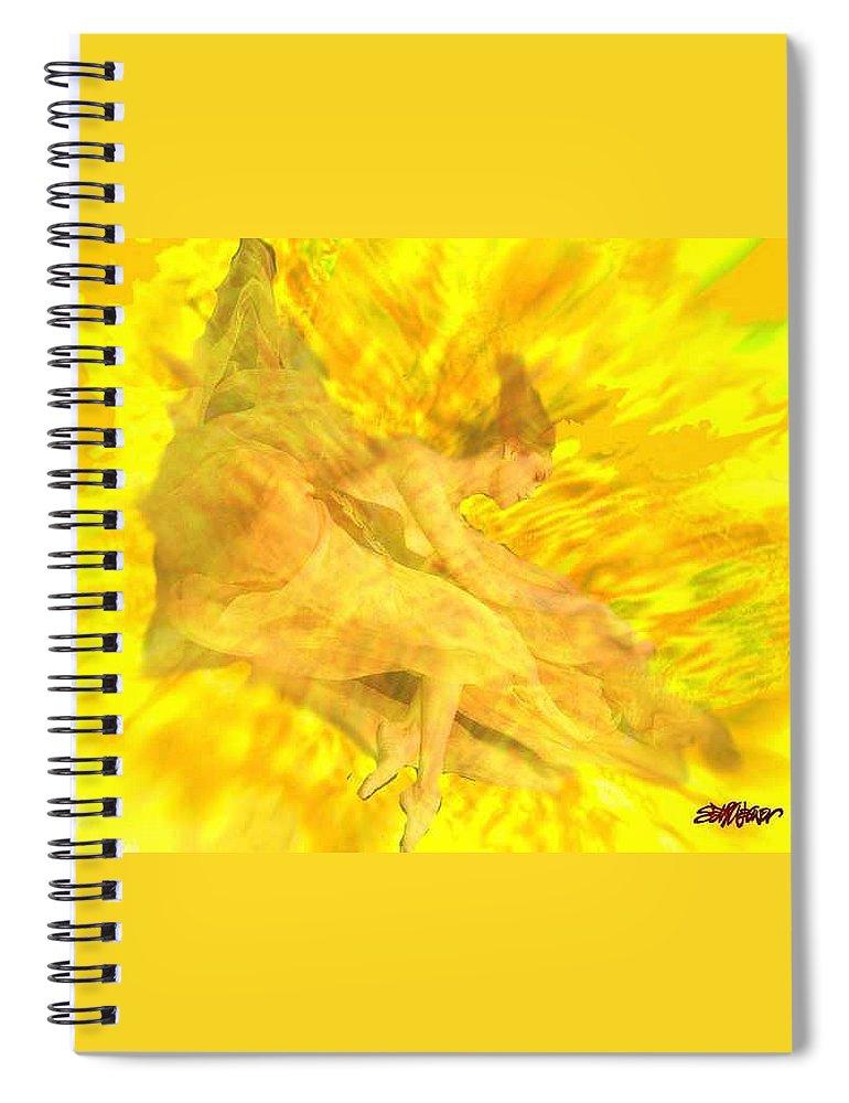Joy Spiral Notebook featuring the digital art Endless Joy by Seth Weaver