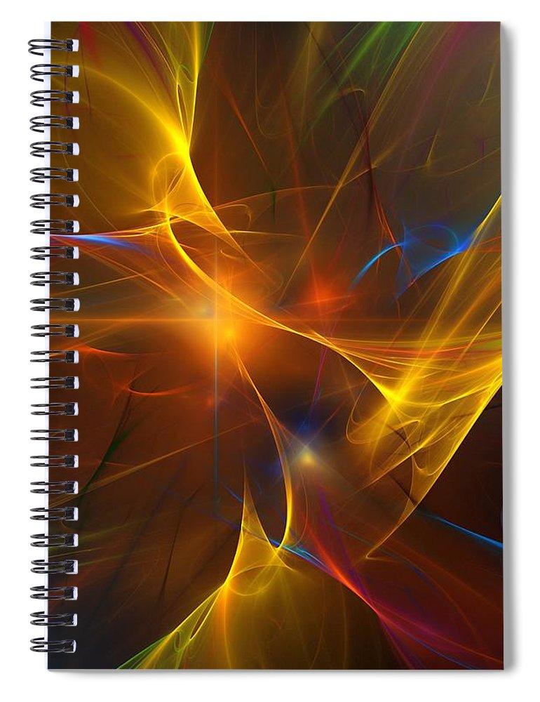 Fractal Spiral Notebook featuring the digital art Energy Matrix by David Lane