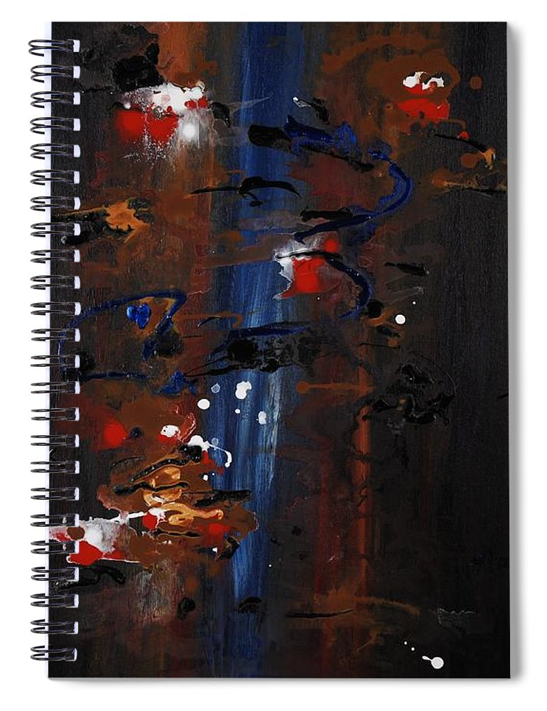 Black Spiral Notebook featuring the painting Energy by Nadine Rippelmeyer