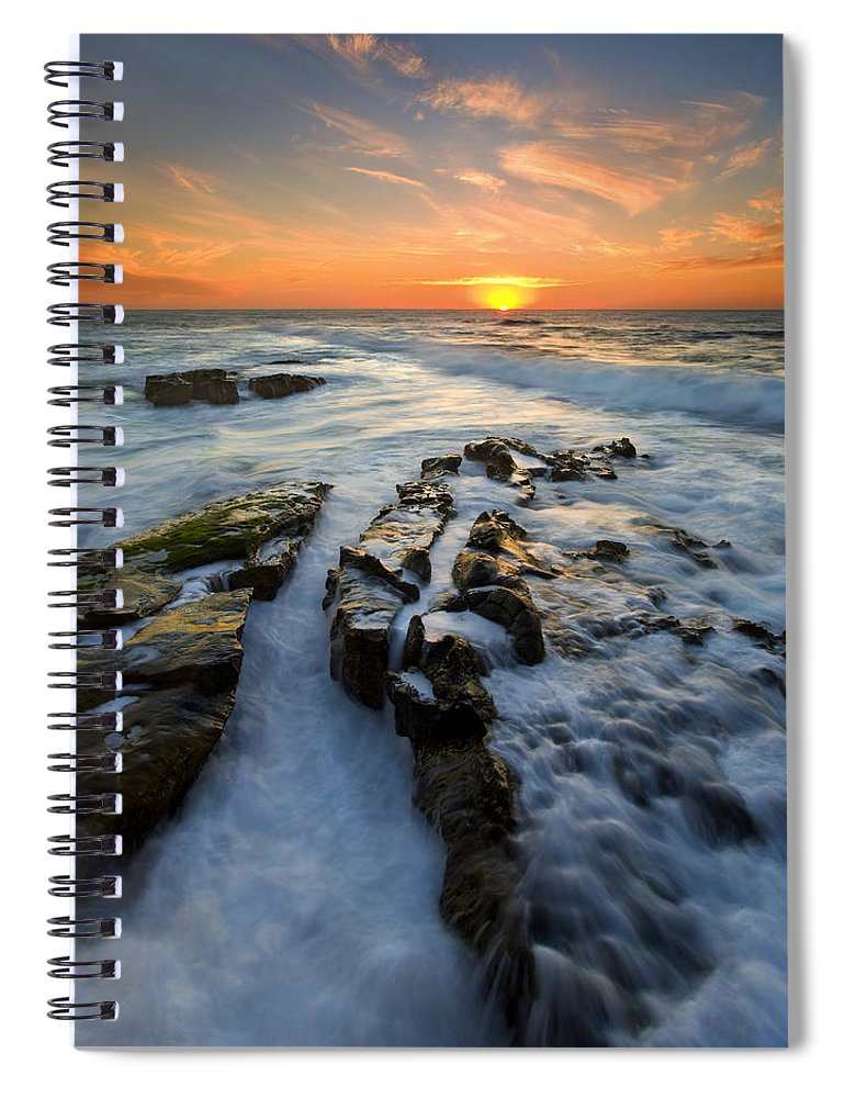 Sunset Spiral Notebook featuring the photograph Engulfed by Mike Dawson
