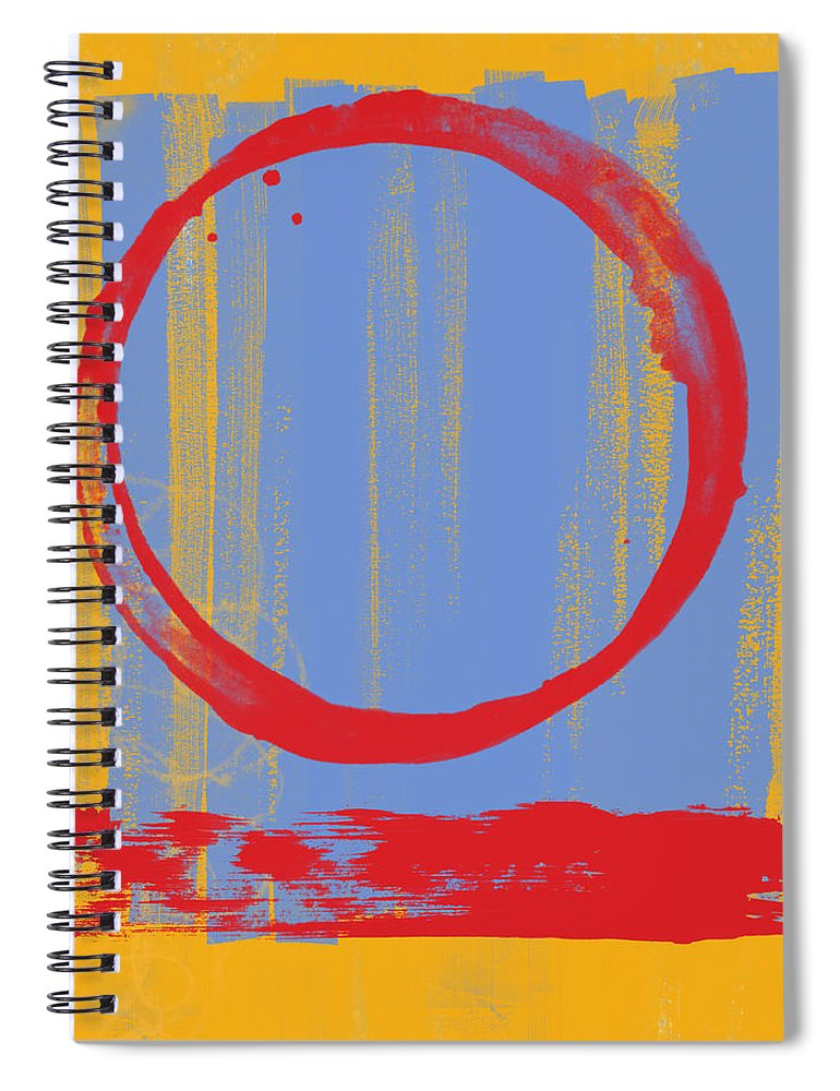 Red Spiral Notebook featuring the painting Enso by Julie Niemela