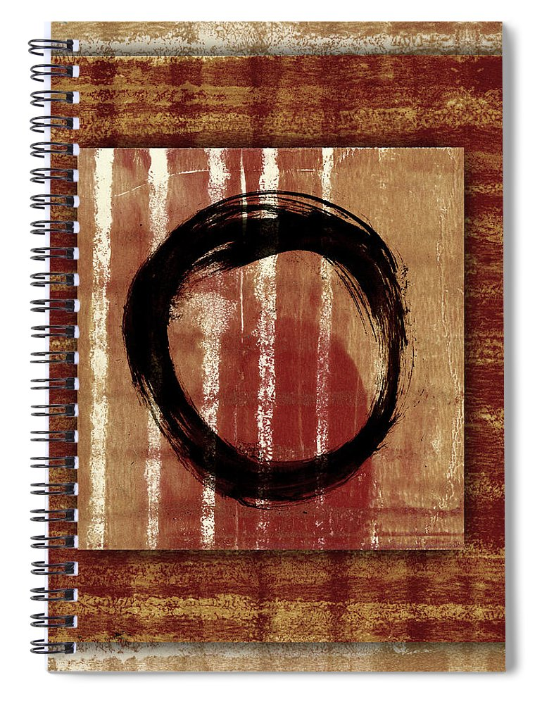 Enso Spiral Notebook featuring the photograph Enso Layers by Carol Leigh