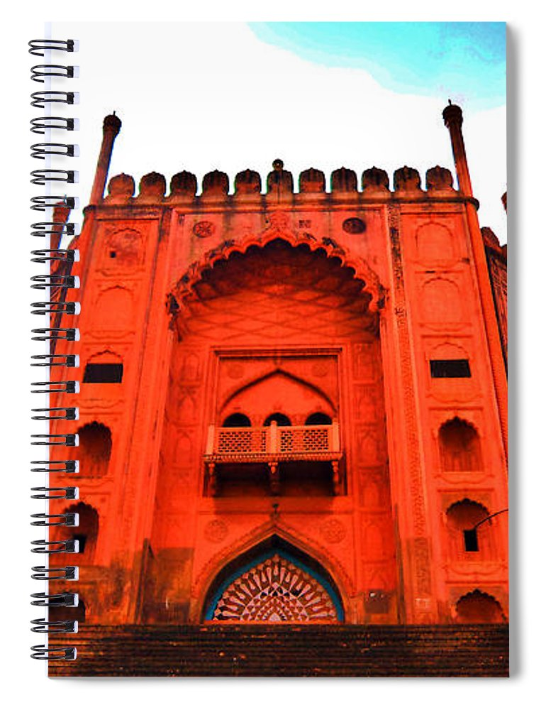 Architecture Spiral Notebook featuring the photograph #entrance Gate by Aakash Pandit