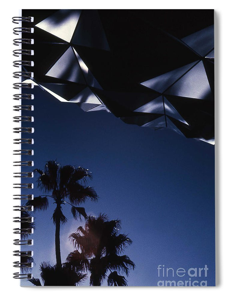 Epcot Spiral Notebook featuring the photograph Epcot Abstract by Richard Rizzo