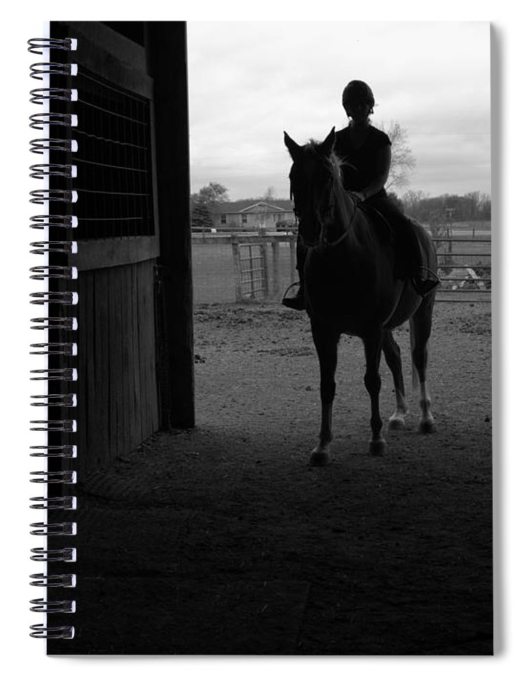 Horse Spiral Notebook featuring the photograph Equus Sapien I by J M Lister
